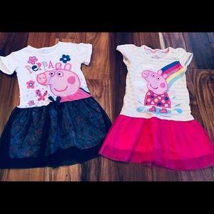 🌸Peppa Pig🌸Lot of 2 Girls Dresses